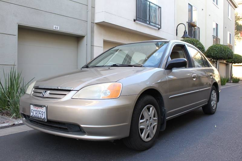 2003 HONDA CIVIC LX 4DR SEDAN WSIDE AIRBAGS champagne center console clock cruise control ext