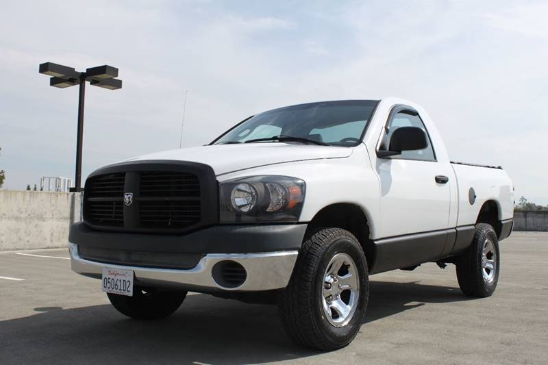 2007 DODGE RAM PICKUP 1500 ST 2DR REGULAR CAB LB white pickup bed light pickup bed type - fleets