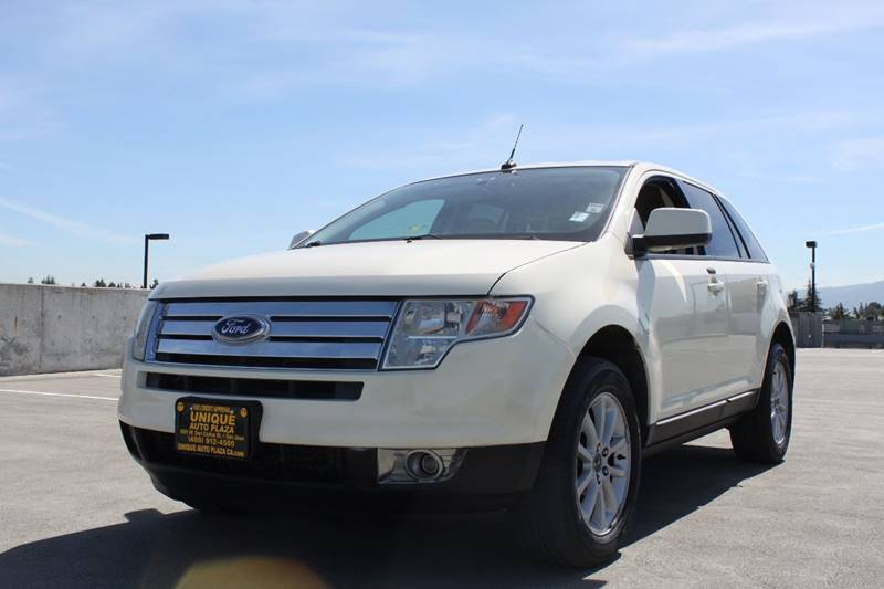 2007 FORD EDGE SEL AWD 4DR SUV off white cargo tie downs grille color - chrome rear spoiler ar