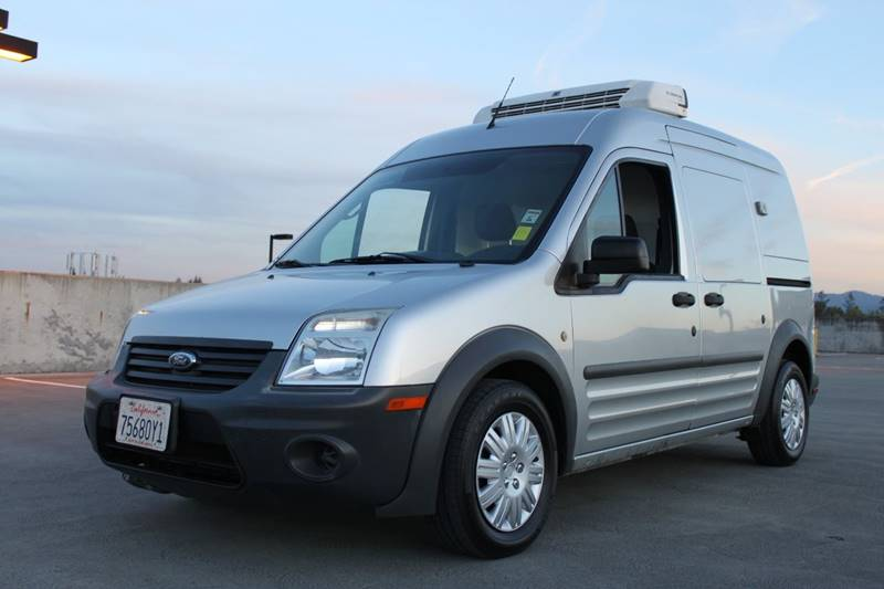 2012 FORD TRANSIT CONNECT CARGO VAN XL 4DR MINI WO SIDE A silver refrigerated cargo van body sid