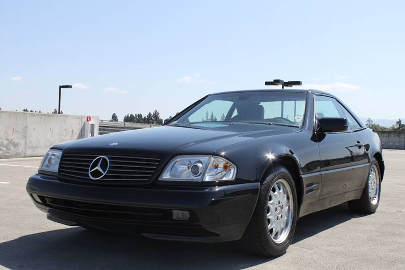 1997 MERCEDES-BENZ SL-CLASS SL 320 2DR CONVERTIBLE black front air conditioning front air condit