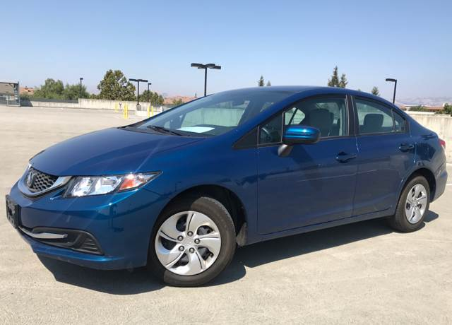 2014 HONDA CIVIC LX 4DR SEDAN CVT blue 2-stage unlocking doors abs - 4-wheel active head restra