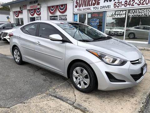 2016 Hyundai Elantra for sale in Amityville, NY