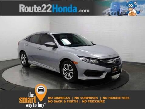 2018 Honda Civic LX for sale at ROUTE 22 HONDA in Hillside NJ