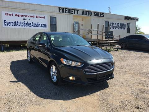 2013 Ford Fusion SE for sale at Everett Auto Sales in Austin TX