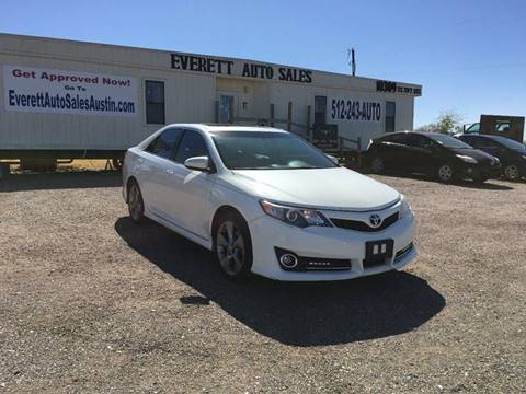 2012 Toyota Camry SE for sale at Everett Auto Sales in Austin TX