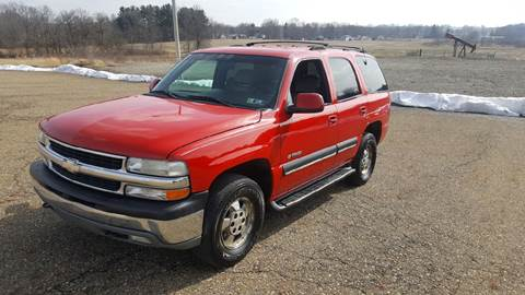 2001 Chevrolet Tahoe for sale at WESTERN RESERVE AUTO SALES in Beloit OH