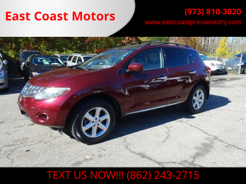 2010 Nissan Murano for sale at East Coast Motors in Lake Hopatcong NJ