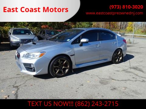 2015 Subaru WRX for sale at East Coast Motors in Lake Hopatcong NJ