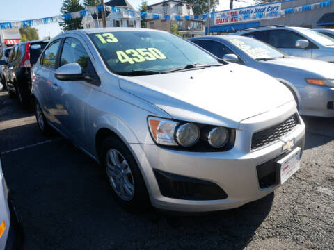 2013 Chevrolet Sonic for sale at M & R Auto Sales INC. in North Plainfield NJ