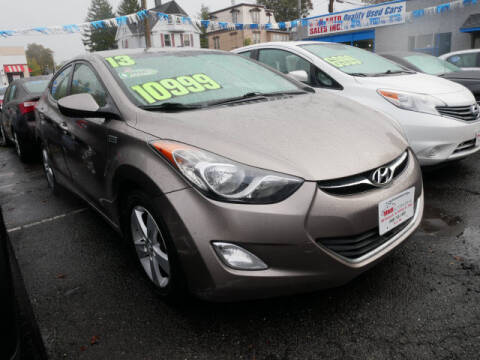 2013 Hyundai Elantra for sale at M & R Auto Sales INC. in North Plainfield NJ