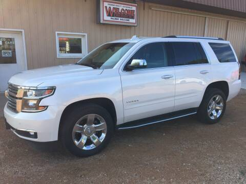 2017 Chevrolet Tahoe for sale at Palmer Welcome Auto in New Prague MN