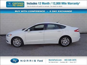 2016 Ford Fusion for sale in Ellicott City, MD