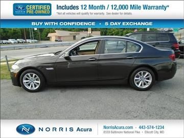 2014 BMW 5 Series for sale in Ellicott City, MD