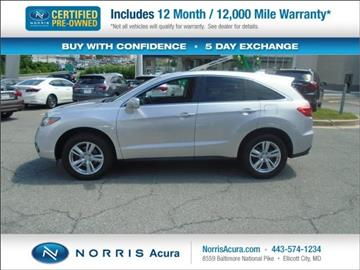 2013 Acura RDX for sale in Ellicott City, MD