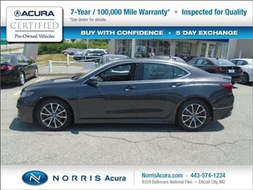 2015 Acura TLX for sale in Ellicott City, MD