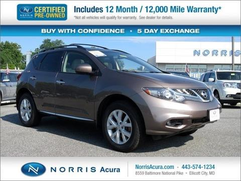 2012 Nissan Murano for sale in Ellicott City MD