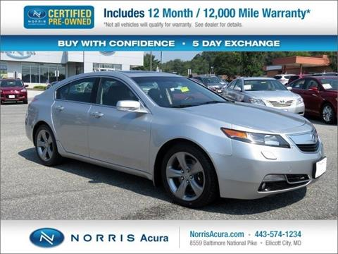 2013 Acura TL for sale in Ellicott City, MD