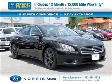 2014 Nissan Maxima for sale in Ellicott City, MD