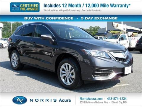 2016 Acura RDX for sale in Ellicott City, MD