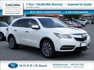 2015 Acura MDX for sale in Ellicott City, MD