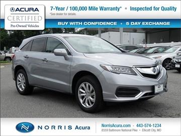 2017 Acura RDX for sale in Ellicott City, MD