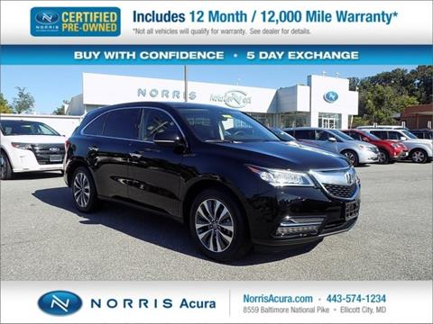 2016 Acura MDX for sale in Ellicott City, MD