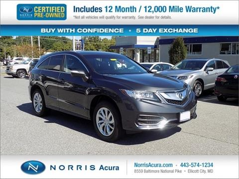 2016 Acura RDX for sale in Ellicott City MD