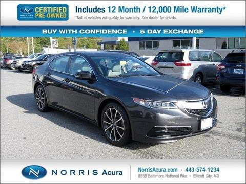 2016 Acura TLX for sale in Ellicott City, MD