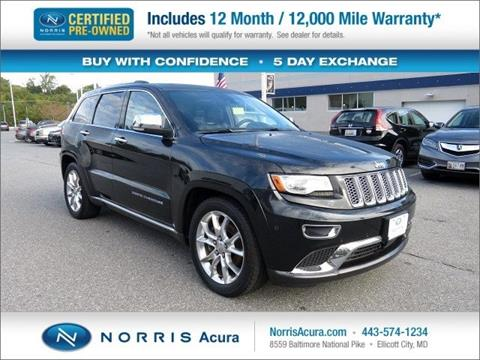 2014 Jeep Grand Cherokee for sale in Ellicott City, MD