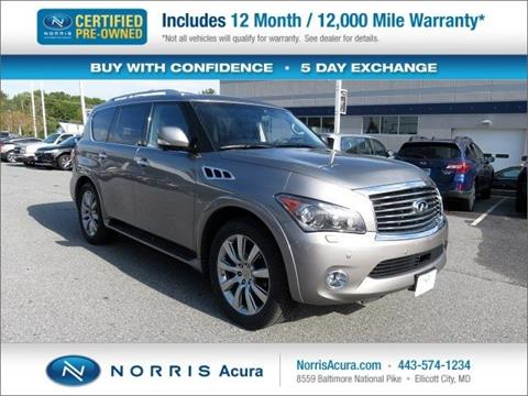 2014 Infiniti QX80 for sale in Ellicott City MD