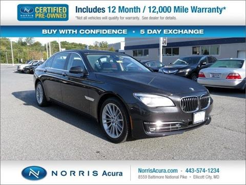 2013 BMW 7 Series for sale in Ellicott City MD