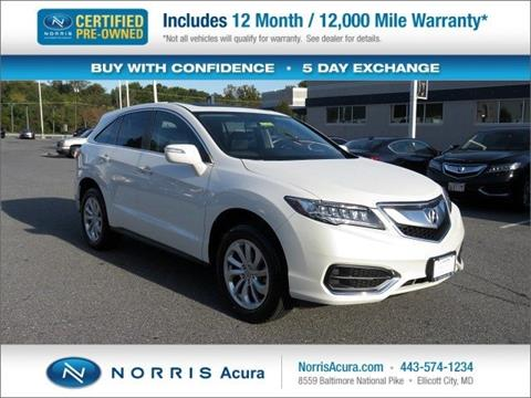 2017 Acura RDX for sale in Ellicott City MD