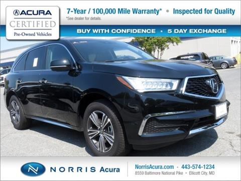 2018 Acura MDX for sale in Ellicott City, MD