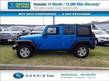 2016 Jeep Wrangler Unlimited for sale in Ellicott City, MD