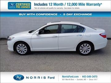 2013 Honda Accord for sale in Ellicott City, MD