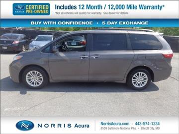 2015 Toyota Sienna for sale in Ellicott City, MD