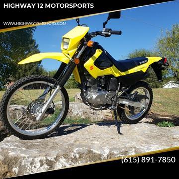 2017 Suzuki DR200S for sale at HIGHWAY 12 MOTORSPORTS in Nashville TN