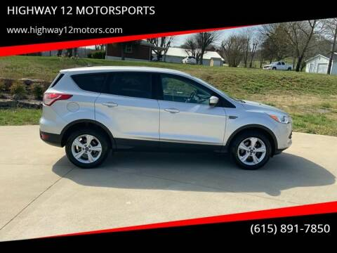 2014 Ford Escape for sale at HIGHWAY 12 MOTORSPORTS in Nashville TN