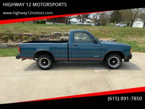 1991 Chevrolet S-10 for sale at HIGHWAY 12 MOTORSPORTS in Nashville TN