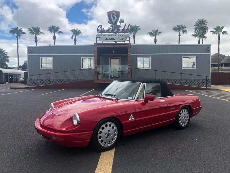 Alfa Romeo Spider Veloce In Mcallen TX Barrett Auto Gallery - 1991 alfa romeo spider veloce for sale