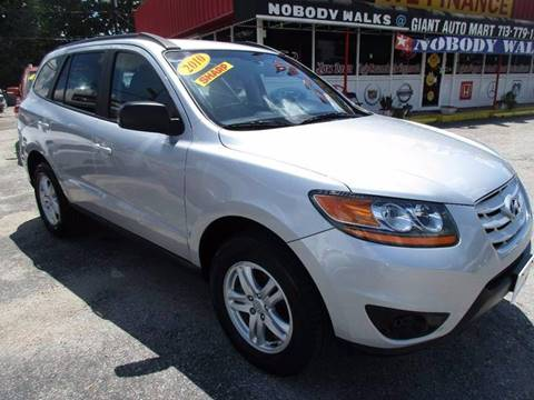 2010 Hyundai Santa Fe for sale at Giant Auto Mart 2 in Houston TX