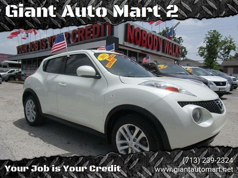 2012 Nissan JUKE for sale at Giant Auto Mart 2 in Houston TX
