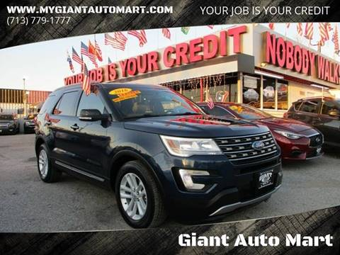2016 Ford Explorer for sale at Giant Auto Mart 2 in Houston TX