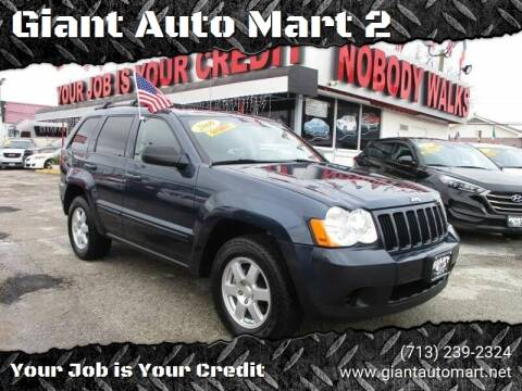 2009 Jeep Grand Cherokee for sale at Giant Auto Mart 2 in Houston TX