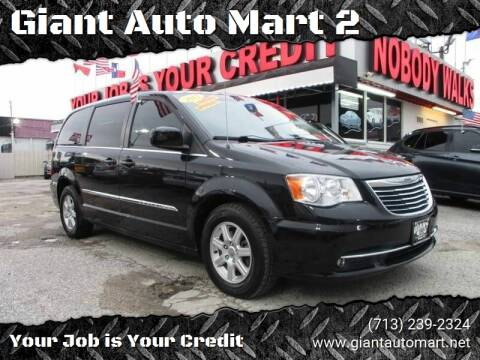 2012 Chrysler Town and Country for sale at Giant Auto Mart 2 in Houston TX
