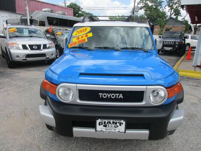 2008 Toyota FJ Cruiser for sale at Giant Auto Mart 2 in Houston TX