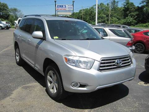 2010 Toyota Highlander for sale at Zinks Automotive Sales and Service - Zinks Auto Sales and Service in Cranston RI