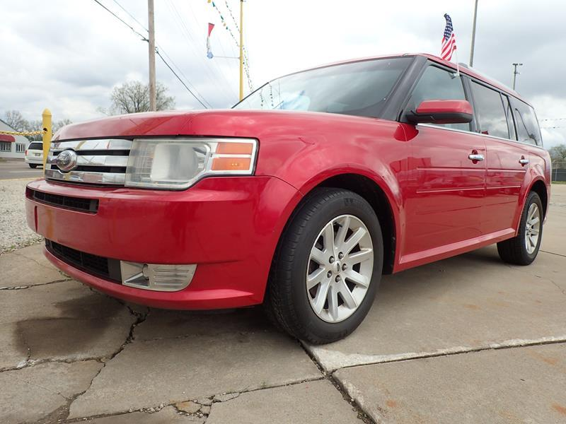 2010 FORD FLEX SEL 4DR CROSSOVER red none 167192 miles VIN 2FMGK5CC7ABA38915