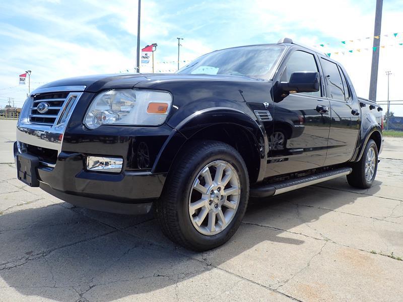 2007 FORD EXPLORER SPORT TRAC LIMITED 4DR CREW CAB 4WD V8 black none 163539 miles VIN 1FMEU53